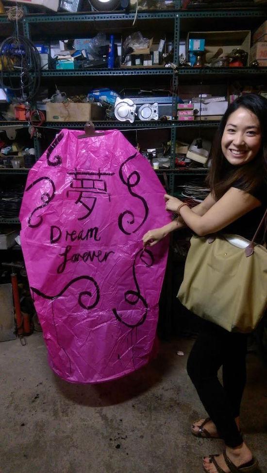 Lantern written with Dream Forever at the Pingxi Lantern Festival