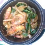 3 cup sauce prawn dish