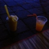 A fresh pineapple slushie for me as we chilled to tunes