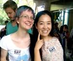 Celebrating at Taipei Pride Parade