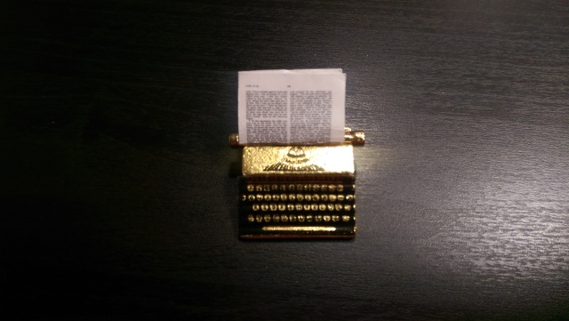 My miniature typewriter from the Miniatures Museum