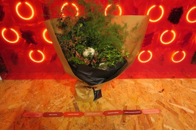 A sausage bouquet at Bompas & Parr's Sausage Social