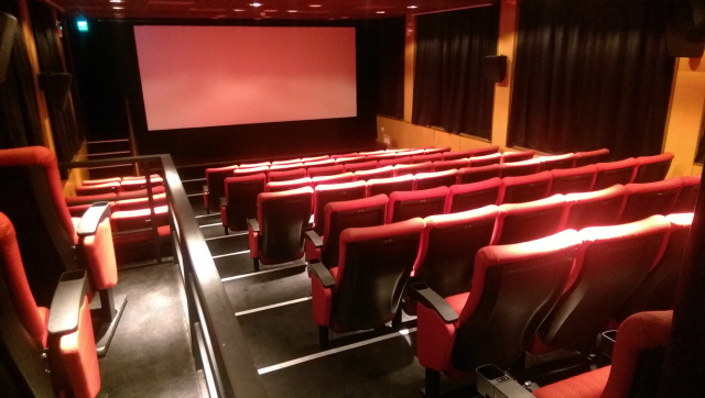 Inside the cinema at SPOT Taipei Film House
