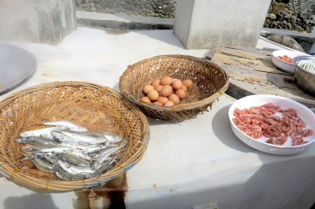 Freshly cooked produce in Penghu, Taiwan