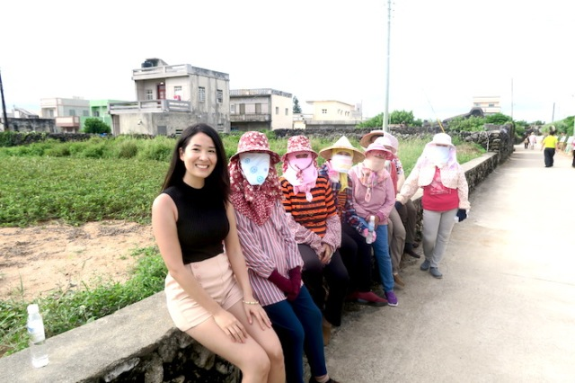 A group of Masked Girls in Penghu, Taiwan
