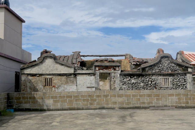 Old worn away buildings in Nanliao, Penghu