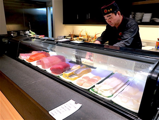 Fu Lou Restaurant's sushi bar and chef