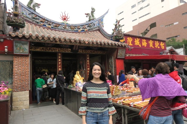 In front of Xia Hai City God Temple in Taipei