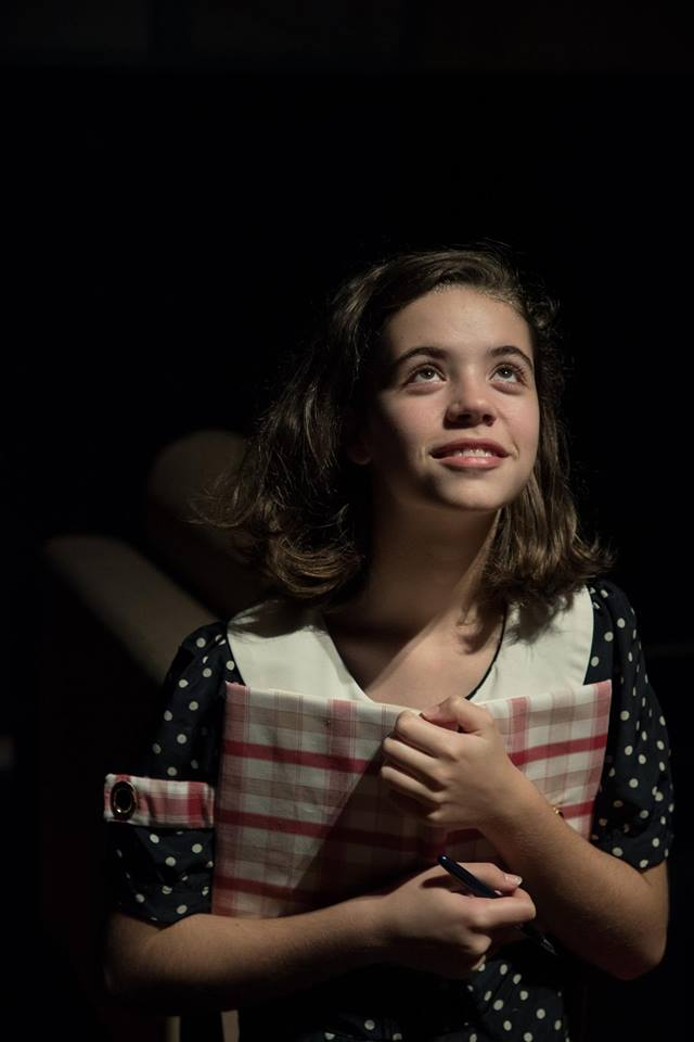 Camryn Rowe playing Anne Frank